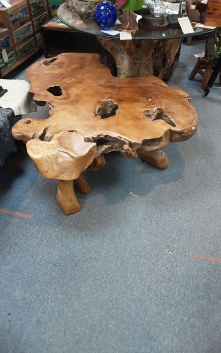 REDUCED Large teak root coffee table